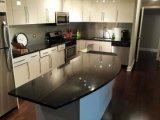 Diamond/Laje de Pedra quartzo preto para decoração de paredes e pisos interiores