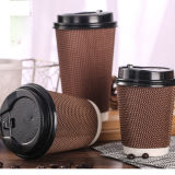 Крышки кофейных чашек поставкы фабрики Compostable бумажные