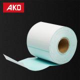 Etiqueta engomada en blanco auta-adhesivo de la talla de la capa 50g del trazador de líneas azul revestido termal de encargo del papel cristal