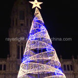 당 훈장 폭포 빛 요전같은 특별한 크리스마스 불빛