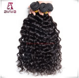 Onda brasileira da água do cabelo do Virgin das extensões do cabelo humano de 100%