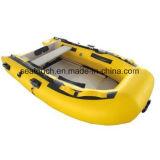Airbeother Material PVC Piso hinchable de aluminio de alta velocidad de barco de pesca