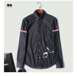 Algodón de moda bordado 100% del barbecho de la camisa de los hombres