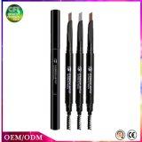 Lápis de sobrancelha de giro automático dos cosméticos das cores das cabeças 3 da amostra livre dois