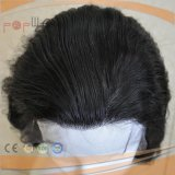 Парик цвета Wefted шнурка передний открытый черный (PPG-l-0696)