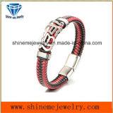 Bracelet de cuir de qualité de bijou de Shineme de l'usine de Derect (BL2870)
