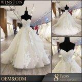 Spitze-Dekoration und waschbare, Breathable Merkmals-Perlen-Spitze gesticktes Hochzeits-Kleid