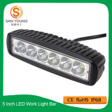 De LEIDENE van de auto 12V 24V Lichte Staaf van het Werk 18W de Automobiele Verlichting van 6 Duim