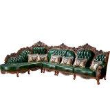木製のソファーフレーム(807)が付いているイタリアの贅沢な革ソファー