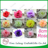 Falso la simulación de cabezas de flores de seda Rosa Boda artesanía bricolaje