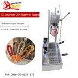 Aço inoxidável 5 tamanho comercial bolores Churros fazendo a máquina com churros fritadeira eléctrica Maker