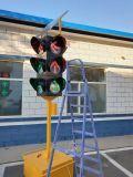 Vier LEIDEN van Aspecten Opvlammend Zonne Beweegbaar Verkeerslicht met Pijlen