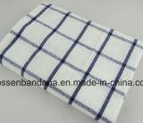China-Fabrik-Erzeugnis-kundenspezifisches rotes überprüftes Baumwolljacquardwebstuhl-Tee-Tuch