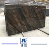 Marmo Polished naturale del Brown del Quicksand per il controsoffitto di punto della decorazione del pavimento della parete di Coutertop delle mattonelle della lastra