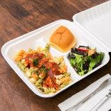 100% биологически разлагаемое 9 дюйма 3 отсека багассы мякоти контейнер для продуктов питания