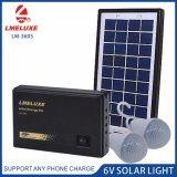 3W do Sistema Solar de emergência recarregável com 2 lâmpadas de iluminação