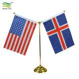 Настраиваемый логотип 2 держателей стойки регистрации/Таблица флаг (B-NF09M05004)