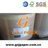 papel térmico do rolamento enorme da polpa 48-65GSM de madeira para datilografar