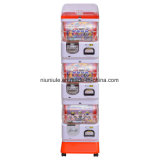 Lecteur de trois pièces de monnaie et exploité de jeton Toy Machine Capsule Machine distributrice