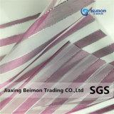 Фиолетовый полосой с серебристым Organza резьбы в Китае, новый стиль, 49GSM