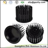 Disipador de calor redondo de la protuberancia de aluminio de encargo para los equipos electrónicos