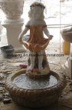 Het antieke Standbeeld van het Ornament van de Tuin met het Marmeren Beeldhouwwerk van het Cijfer van de Baby van de Steen