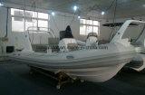 Liya China costales de fibra de vidrio bote inflable rígido 5,2m