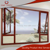Toldo de la rotura de G&F Jinfu o ventana termal de aluminio del marco (JFS-55002)