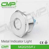 Luz de indicador plana del redondo IP67 del CMP 25m m