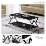 Moderner Hotel-Möbel-ausgeglichenes Glas-Kaffeetisch Yf-T17077
