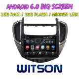 """Witson 9 """" Chevrolet Trax를 위한 큰 스크린 인조 인간 6.0 차 DVD"""