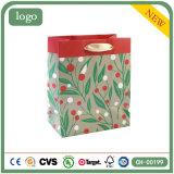 Grüne Polka PUNKT Form-Kunst-überzogene Geschenk-Papiertüten