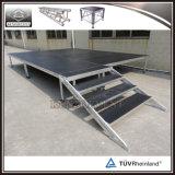 Plataforma de madeira portátil ao ar livre do estágio com pés ajustáveis