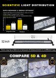 Barre sans fil d'éclairage LED de pouce 180W du contrôle RVB 5D 32 de boîtier en aluminium tous terrains