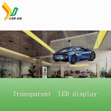 LED que hace publicidad del indicador digital de la pantalla transparente