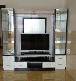 6 portas de madeira Sala TV Expositores de vidro