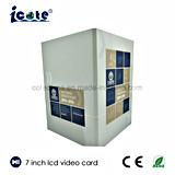 Nova chegada Brochura Card-Video Vídeo LCD 7 polegada para uma promoção
