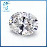 타원형 모양 7X9mm는 얼음에 의하여 Moissanite 잘린 아주 대중적인 백색 다이아몬드를 분쇄했다