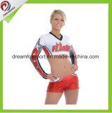 Medias sublimadas de encargo del desgaste de la práctica de las mujeres de los uniformes atractivos del Cheerleading