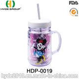 De aangepaste 20oz Kruik van de Metselaar van BPA Vrije Plastic met Handvat (hdp-0019)