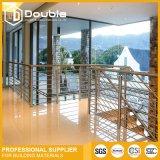 Pasamano del balcón del acero inoxidable del montaje de la pared de la barandilla del acero inoxidable