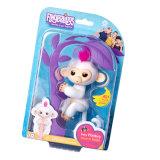 標準的な多彩で少しはロボットペット猿に対話型の赤ん坊指猿のおもちゃのFingerlingsを歌う