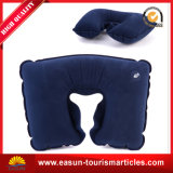 Almohadilla inflable del amortiguador de aire del cuello que acampa para el recorrido