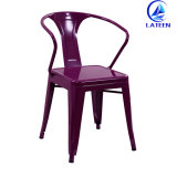 도매 높은 제품 의자를 식사하는 강철 산업 Retro 다방 금속