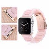 Manier Dame Bracelet Pink Resin Watch Riem voor de Band van het Horloge van de Appel