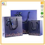 Sac de empaquetage de papier d'achats faits sur commande (OEM-GL009)