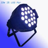 Для использования внутри помещений RGBW 4 в 1 18*10Вт Светодиодные PAR лампы
