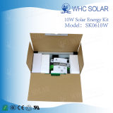 Nuevo sistema de iluminación casero solar de energía solar portable del sistema 10W