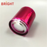 Rosafarbene silberne galvanisierende Glasglas-Kerze für Weihnachtsgeschenk
