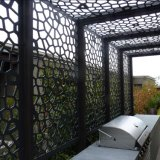 Laser 커트 로즈 금 미러 가는선 스테인리스 스크린 위원회 Mashrabiya 프라이버시 스크린 장식적인  스크린 Architectural 스크린